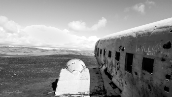 Sólheimasandur Sahilinde bulunan uçak enkazı